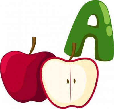 Obraz alfabet dla jabłek