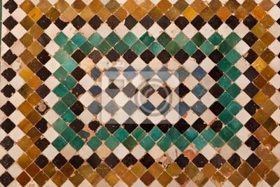 Alhambra de Granada. Ceramiczna mozaika z elewacji Comares