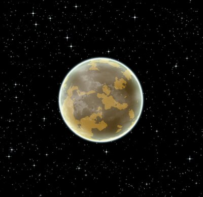 Obraz Alien brązowy planeta