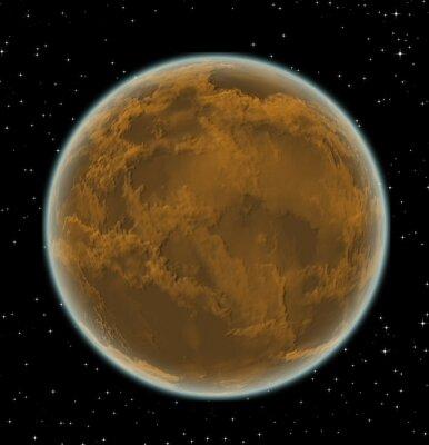 Obraz Alien planety w przestrzeni kosmicznej