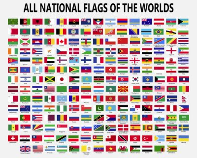 Obraz All national flags countries of the world.
