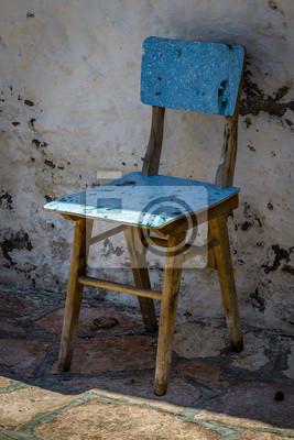 Alter Blauer stuhl