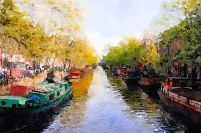 Obraz Amsterdam Canal