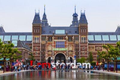 Obraz Amsterdam, Holandia. Plac przed Państwowym Muzeum