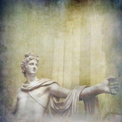 Obraz Antique hellenistic rzeźby na tle grunge