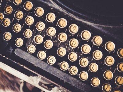 Obraz Antique typewriter Vintage obiekt w tle