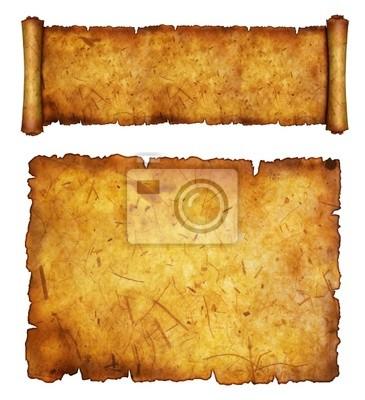 Antyczny papieru na biały powierzchni z antykami krawędzi.