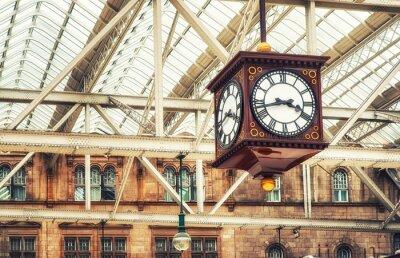 Obraz Antyczny zegar stacji