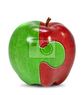 apple na białym collage