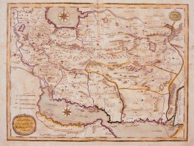 Obraz Arabic old map