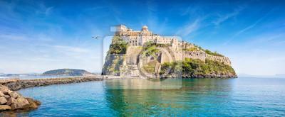 Obraz Aragonese Castle is most popular landmark in Tyrrhenian sea near Ischia island, Italy.