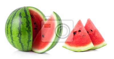 Obraz arbuz na białym tle