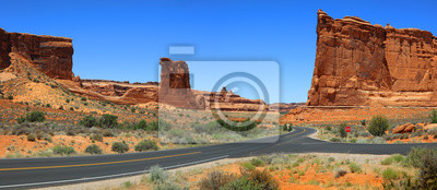 Obraz Arches national park scenic by way panoramic view