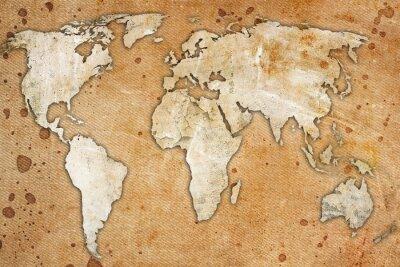 Obraz archiwalne mapa świata