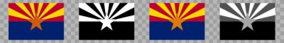 Obraz Arizona Flag Colors Black | State Flags | Banner | Symbol | Vector | Isolated | Variations