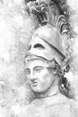 Obraz Artystyczny portret Peryklesa z teksturą, Classica