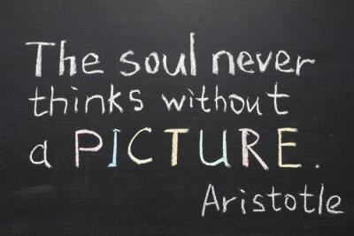 Obraz Arystoteles cytatem