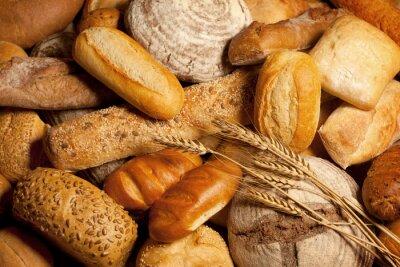 Obraz Asortyment upieczony chleb z pszenicy
