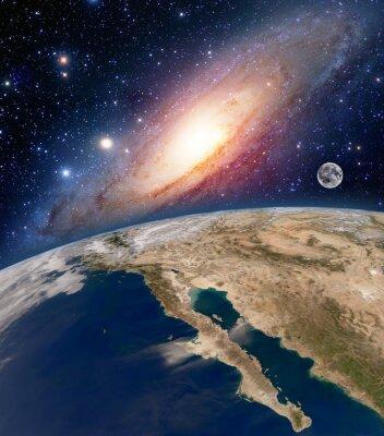 Obraz Astrologia astronomia ziemi duża przestrzeń Bang gwiazdek księżyc planety Droga Mleczna. Elementy tego zdjęcia dostarczone przez NASA.