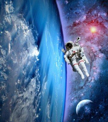 Obraz Astronauta Spaceman Ziemia Księżyc