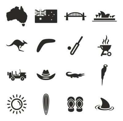 Obraz Australia Ikony