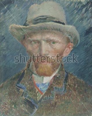 Obraz Autoportret, Vincent van Gogh, 1887, holenderski obraz olejny. Przedstawił się tutaj jako modnie ubrany paryżanin