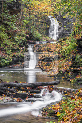 Autumn at Deckertown Falls - Montour Falls, New York