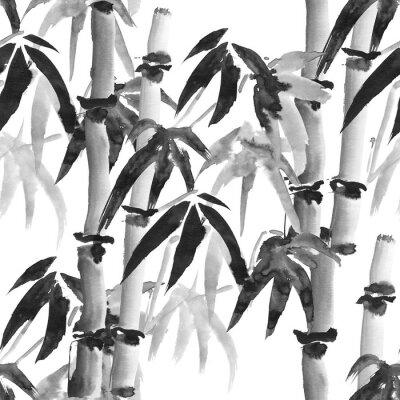 Obraz bambusa wzór