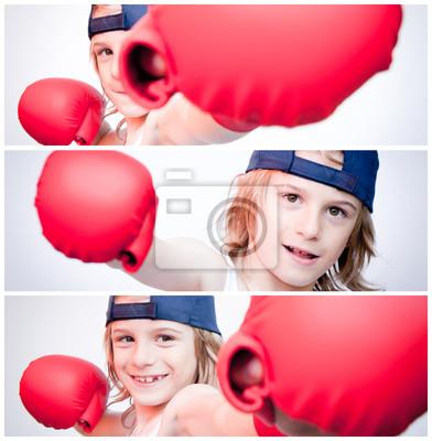 banery chłopiec boxing