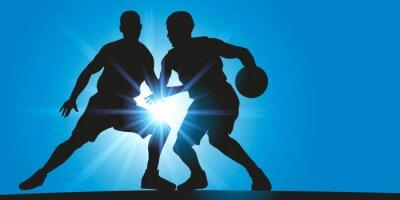Obraz Basket - Dribble - rejonów lumineux