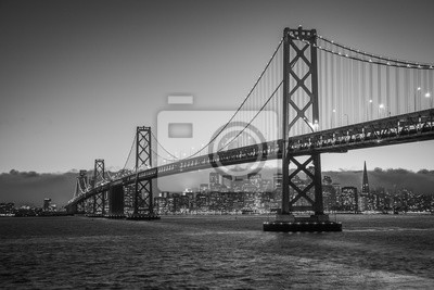 Obraz Bay Bridge Black and White