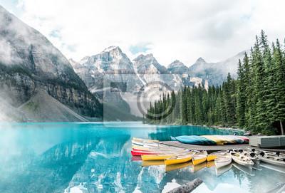 Obraz Beautiful Moraine lake in Banff national park, Alberta, Canada