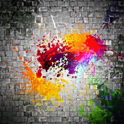 Obraz bełkotać Atrament na mur