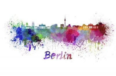 Obraz Berlin skyline w akwareli