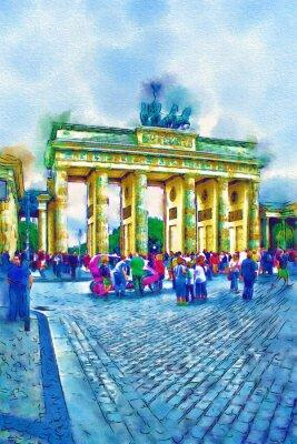 Obraz Berlin sztuki ilustracji