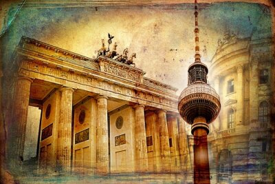 Obraz Berlin sztuki projektowania ilustracji