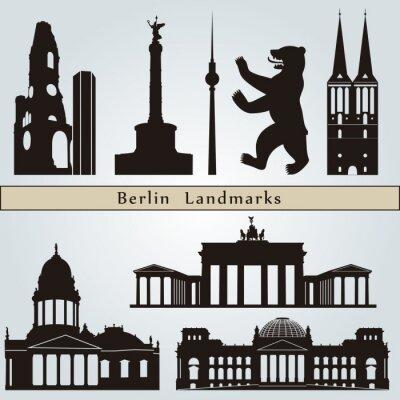 Obraz Berlin zabytki i pomniki