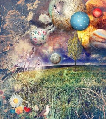 Obraz Bewitched kraj z ptaków i kwiatów