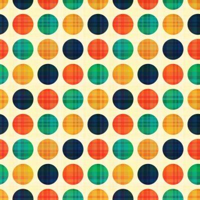 Obraz bez szwu abstrakcyjna polka dots pattern