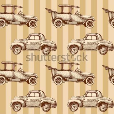 Obraz bez szwu kreskówka mapa samochodów i ruchu