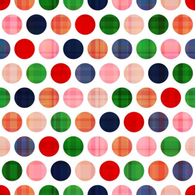 Obraz bez szwu polka dots pattern