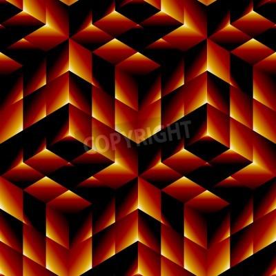 Obraz Bezproblemowa geometryczny wzór