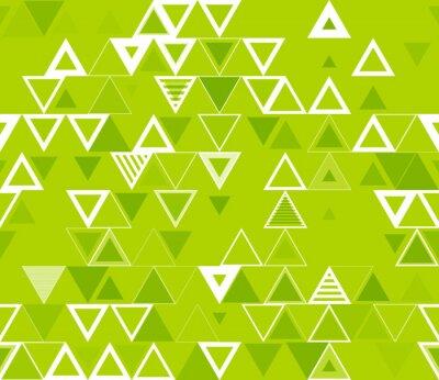 Obraz Bezproblemowa geometryczny wzór z trójkątów.