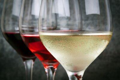 Obraz Biała Róża i czerwonego wina