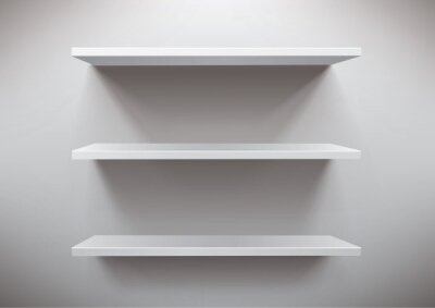 W Ultra Białe półki Obrazy na ścianę • Obrazy półka na książki EB34
