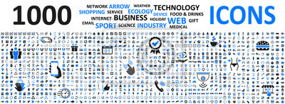 Obraz Big set icons: business, shopping, device, technology, medical, ecology, food & drink and many more for any cases of life using – vector