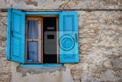 Blaues offenes Fenster