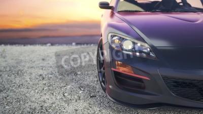 Obraz Blisko luksusowe samochody, jak słońce za kulisami.