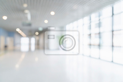 Obraz blur image background of corridor in hospital or clinic image