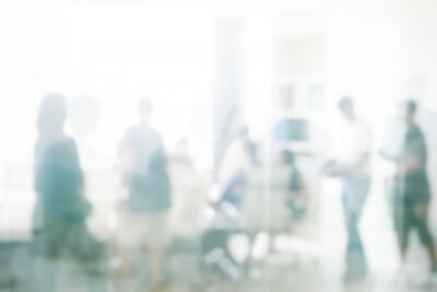 Obraz Blurred business people meeting in office interior with space for business brainstorming background design